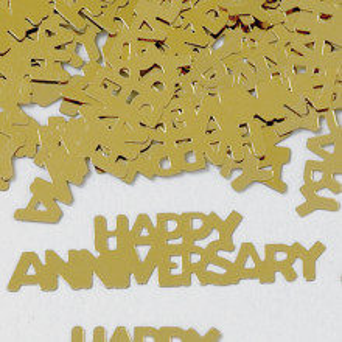 Konfetki - Happy Anniversary Gold