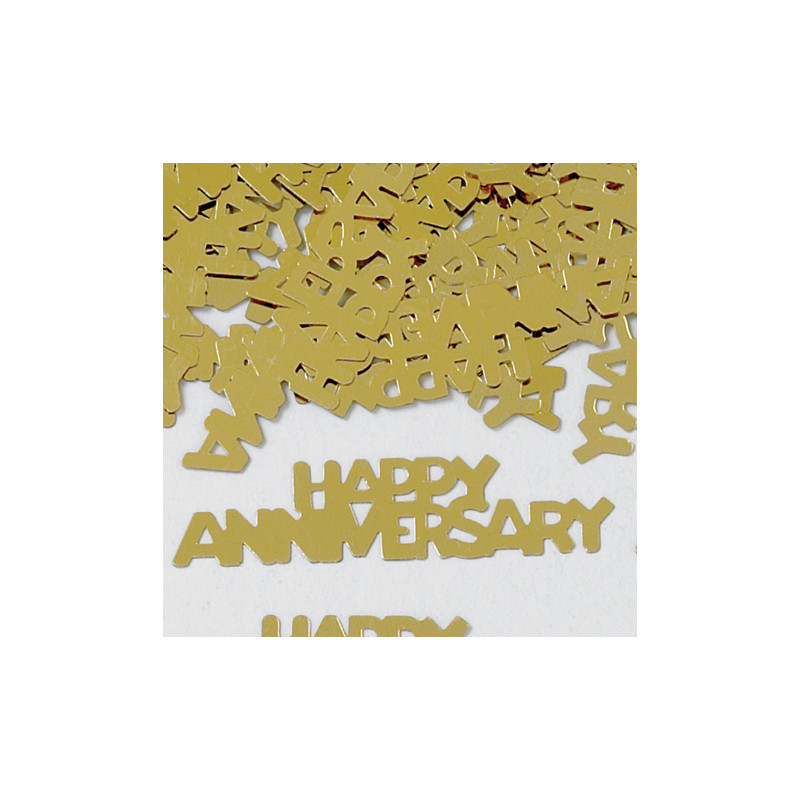Konfetki - Happy Anniversary Gold