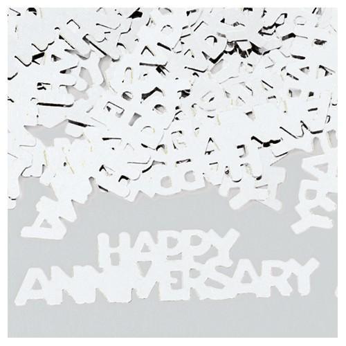 Konfetki - Happy Anniversary Silver