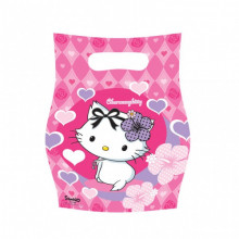 Charming Kitty hearts party bags
