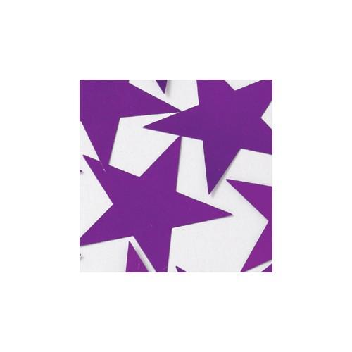 Konfetki - Purple Stars large