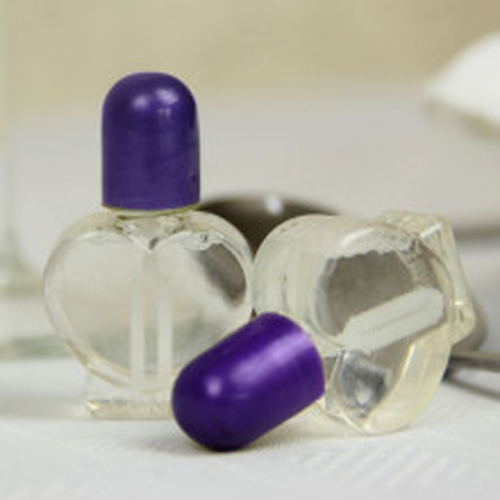Srček mehurčki- vijolični