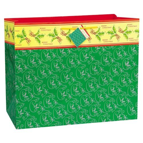 Fancy božič zelena torba