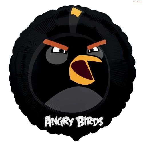 Foil balloon black bird