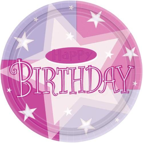 Rosa Geburtstagsparty teller