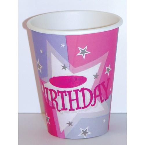 Rosa Geburtstagsparty becher
