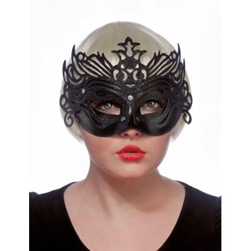 Black ornament mask