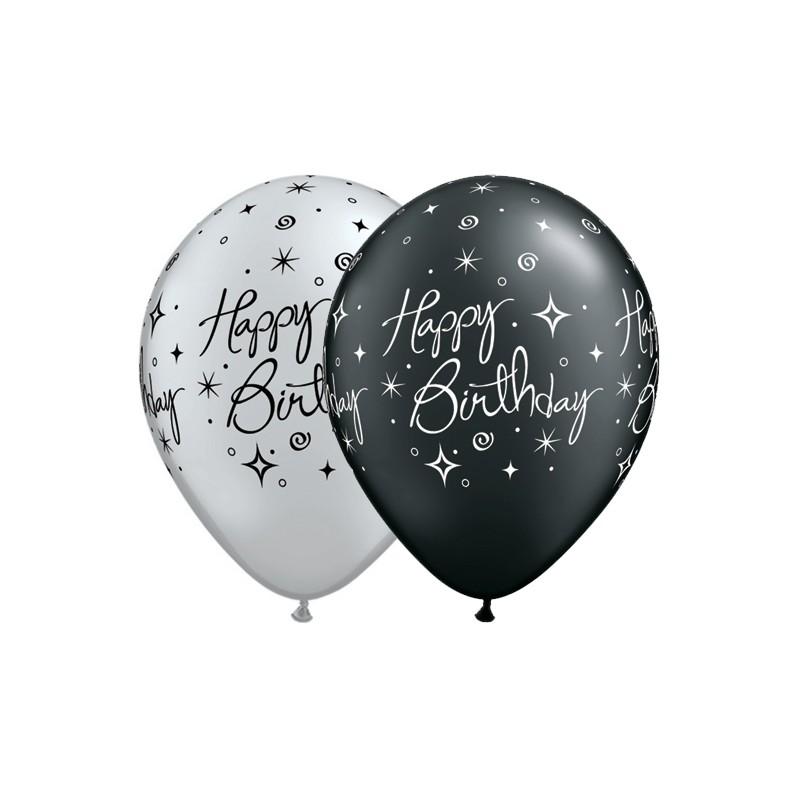 Birthday Elegant Sparkles & Swirls