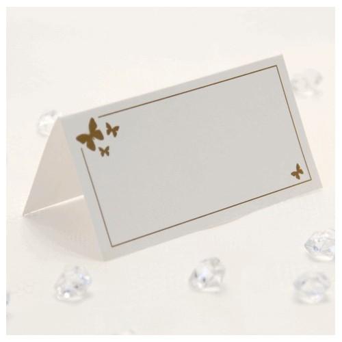 Zlati metulj kartice za sedežni red