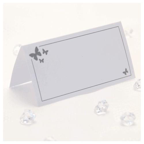 Srebrni metulj kartice za sedežni red