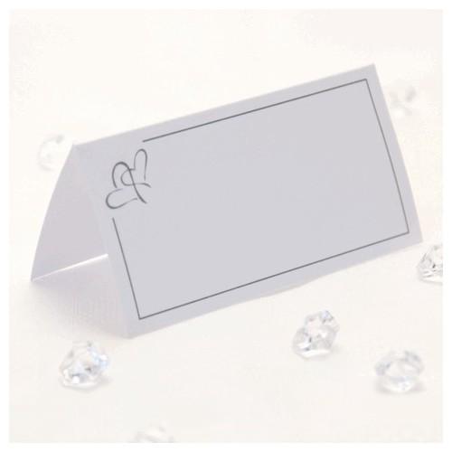 Srebrni srček kartice za sedežni red