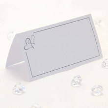 Silver hearts place cards