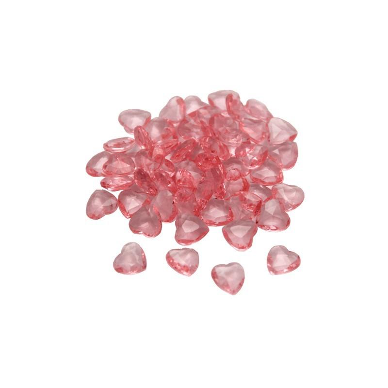 Svetlo roza srčki namizni diamantki