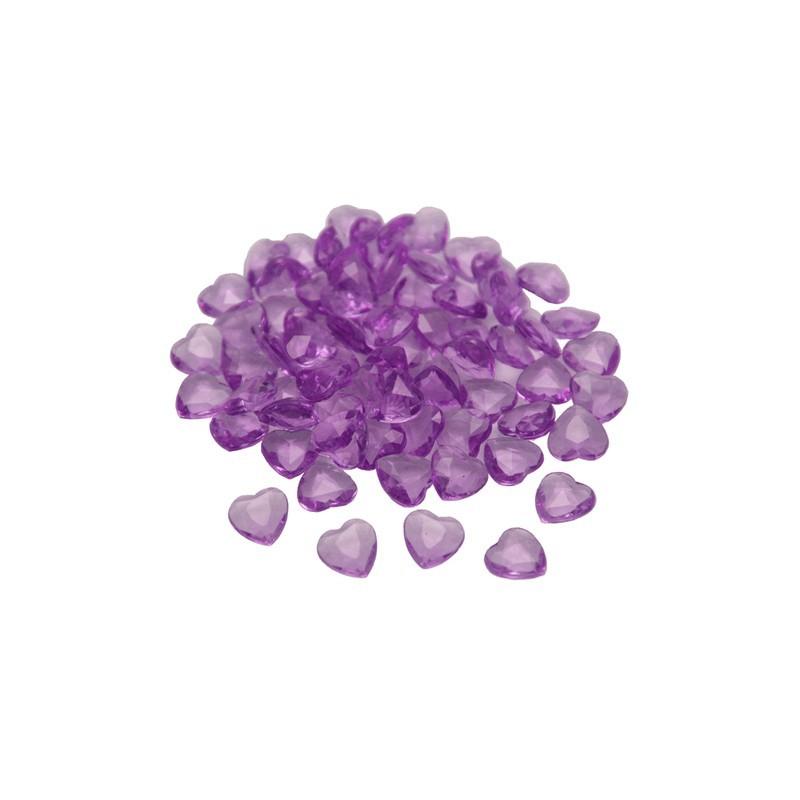 Lila srčni namizni diamantki