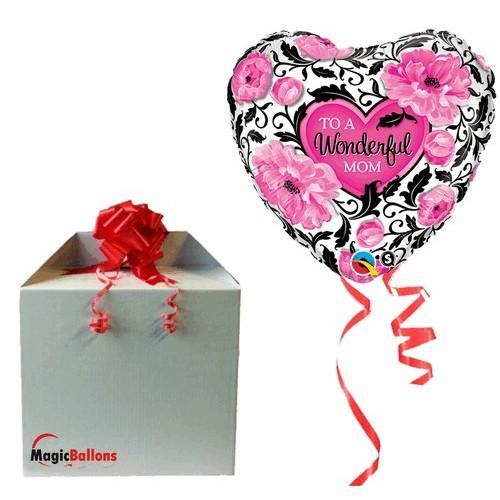 Wonderful Mum Floral Damask  - helium balloon