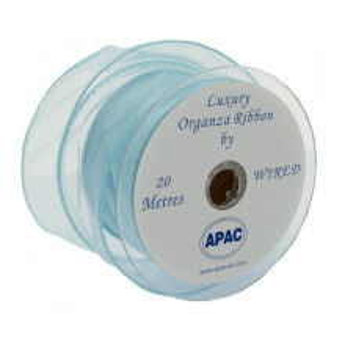 Baby blue wired organza
