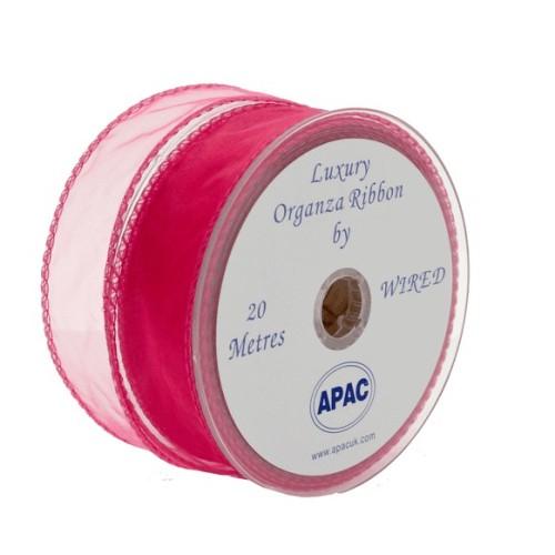 Shocking pink wired organza