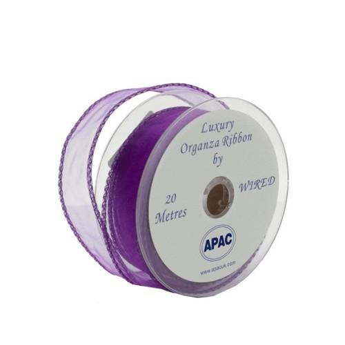 Purple wired organza