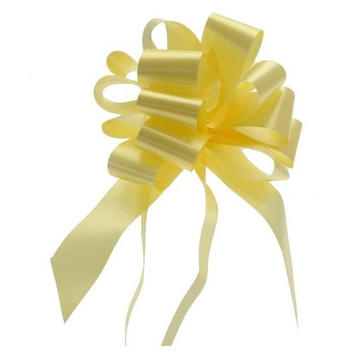 Pull bow light yellow 3 cm