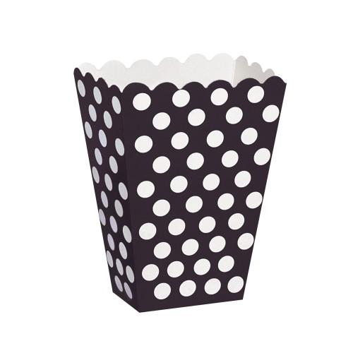 Black polka dot treat box