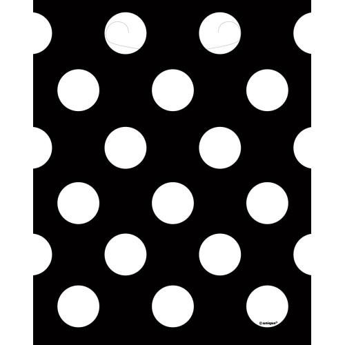 Black polka dot  loot bags