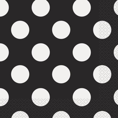 Black polka napkins