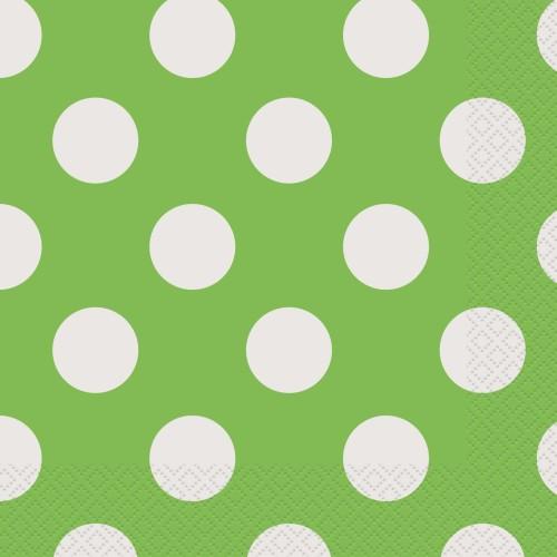Lime green polka napkins