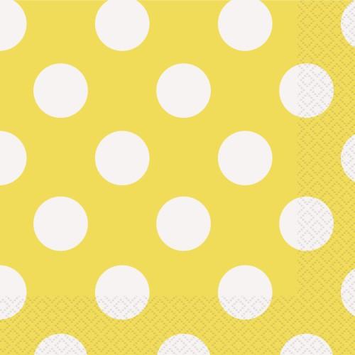 Yellow polka napkins