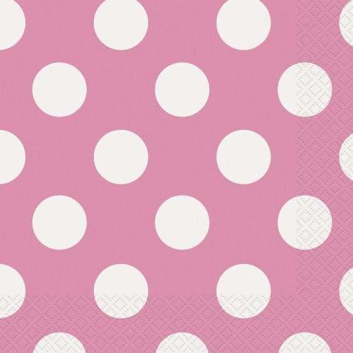 Hot pink polka napkins
