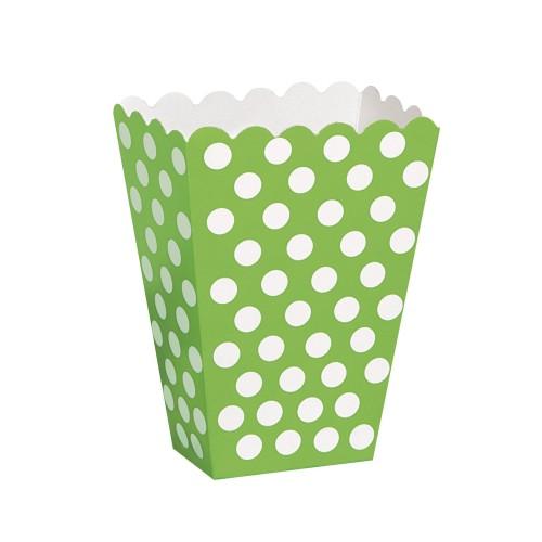 Lime green polka dot treat box