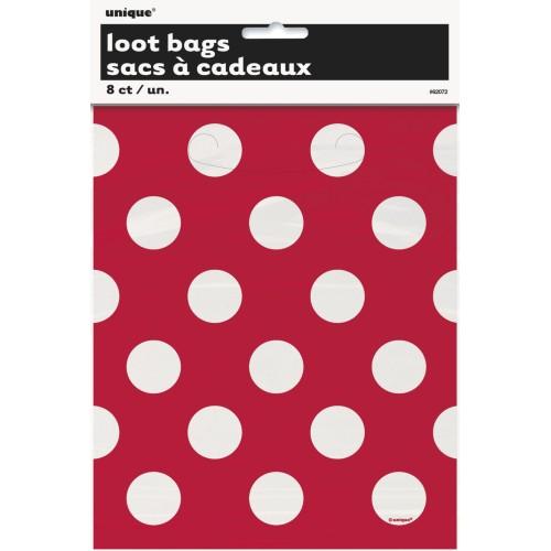 Red polka dot  loot bags