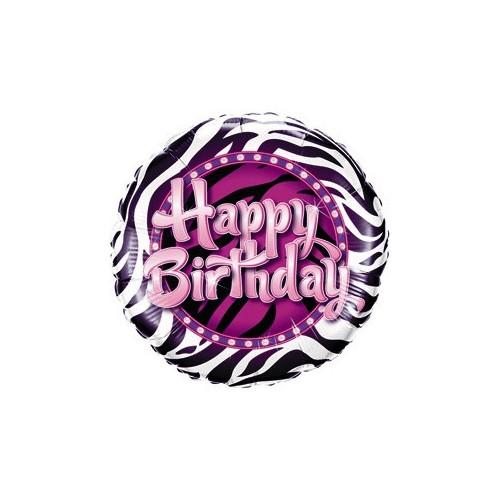 Birthday Zebra Print