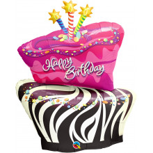 Birthday Funky Zebra Stripe Cake