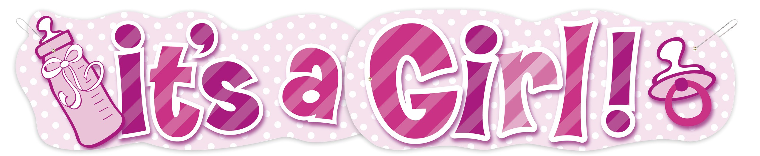 magicballons birthday party its a girl banner