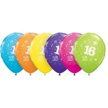Potiskan balon številka 16