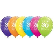 Potiskan balon številka 30