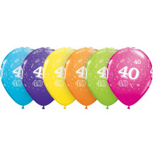 Printed balloons - number 40
