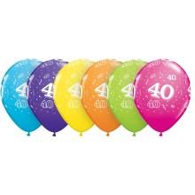 Potiskan balon številka 40