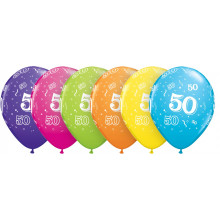 Bedruckte Ballons - Nummer 50
