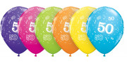 Printed balloons - number 50