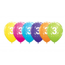 Printed balloons - number 3