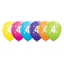Printed balloons - number 4