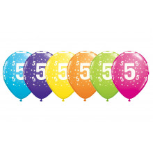 Printed balloons - number 5