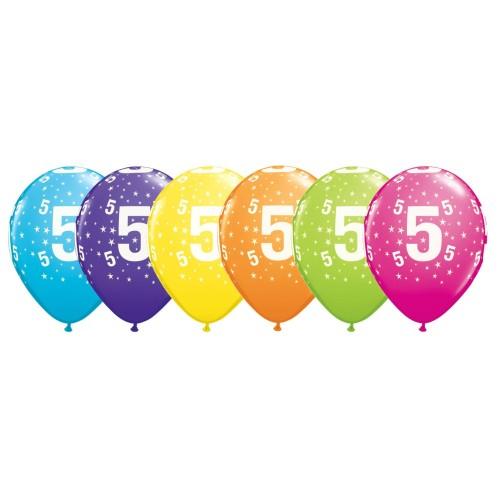 Potiskan balon številka 5