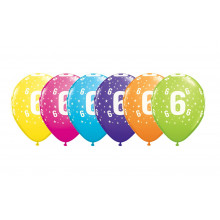 Printed balloons - number 6