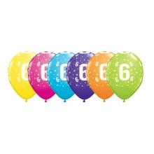 Potiskan balon številka 6