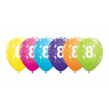 Printed balloons - number 8