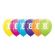 Potiskan balon številka 8