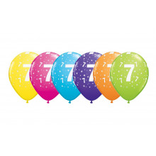 Printed balloons - number 7