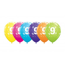 Printed balloons - number 9